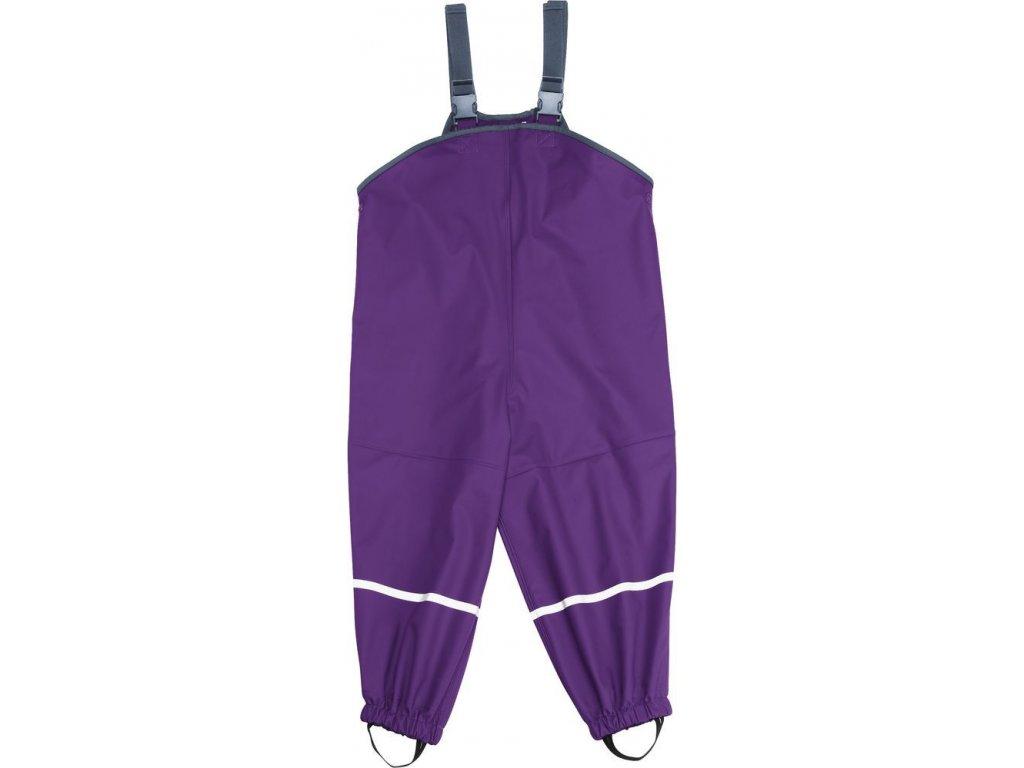 Kvalitní dětské nepromokavé kalhoty do deště s laclem Playshoes v tmavě fialové barvěKvalitní dětské nepromokavé kalhoty do deště s laclem Playshoes v tmavě fialové barvě