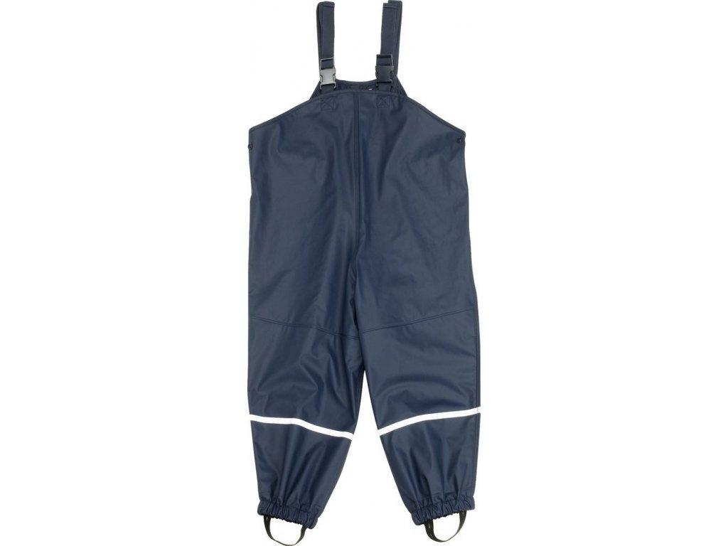Kvalitní dětské nepromokavé zateplené kalhoty s fleecem do deště Playshoes v modré barvě