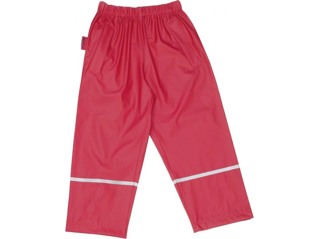 Kvalitní dětské nepromokavé kalhoty do pasu s membránou Playshoes v červené barvě