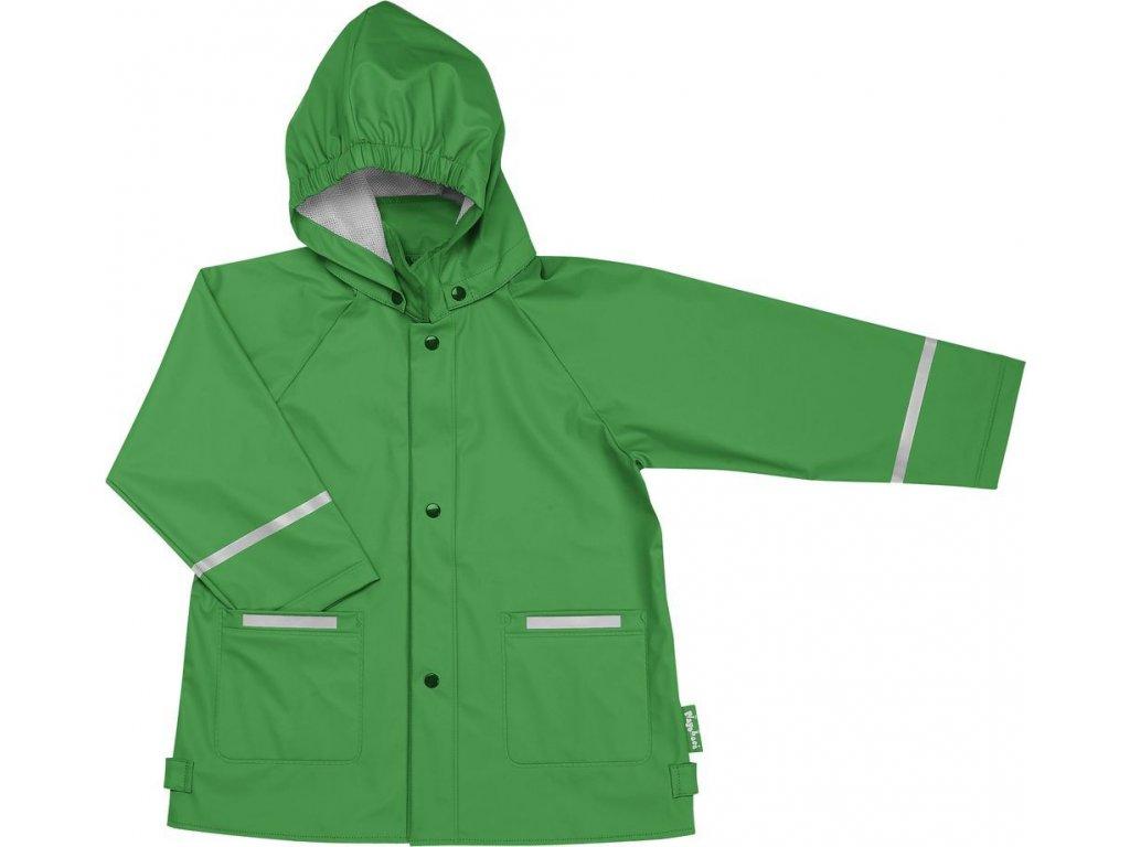 Kvalitní dětská nepromokavá jarní bunda (pláštěnka) s kapucí a reflexními prvky Playshoes v zelené barvě