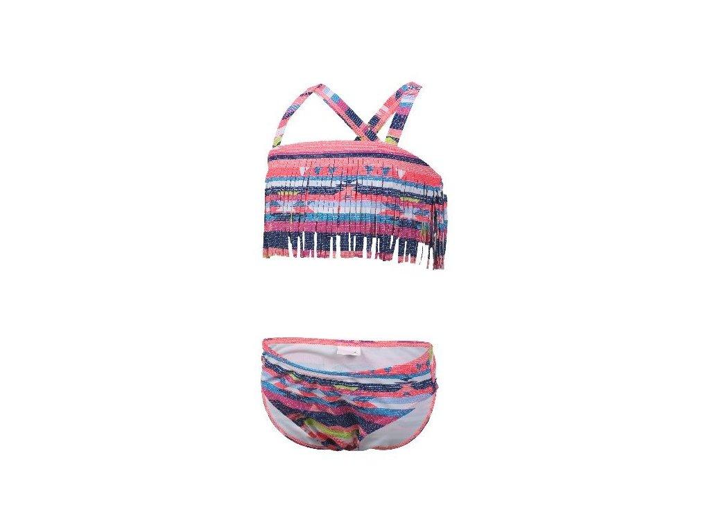 Kvalitní dívčí rychleschnoucí 2-dílné plavky s UV ochranou Color Kids Navida - Sugar coral