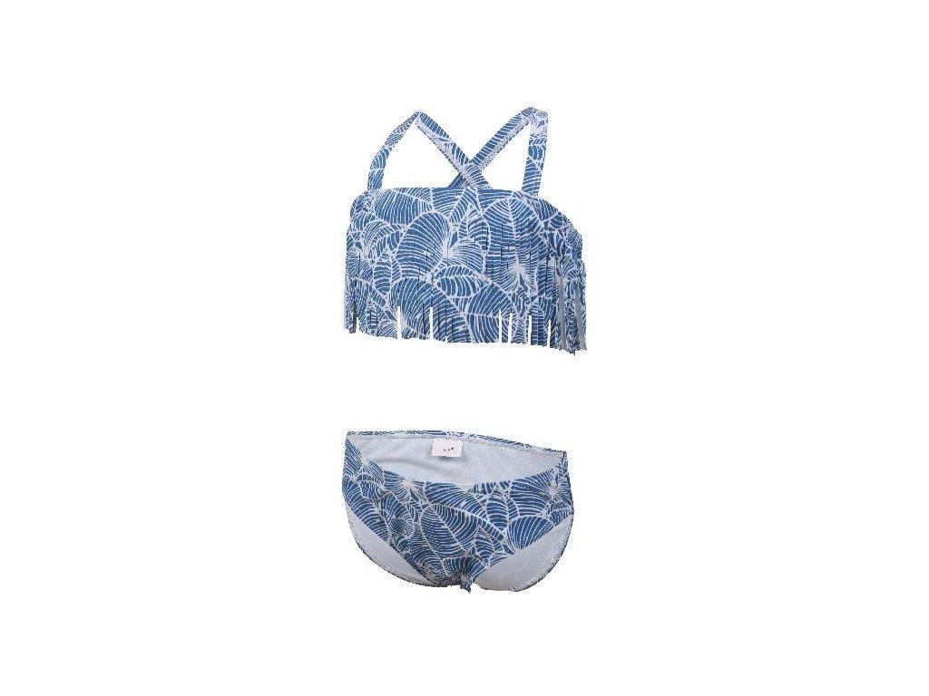 Kvalitní dívčí rychleschnoucí 2-dílné plavky s UV ochranou Color Kids Navida - Jeans blue v modré barvě