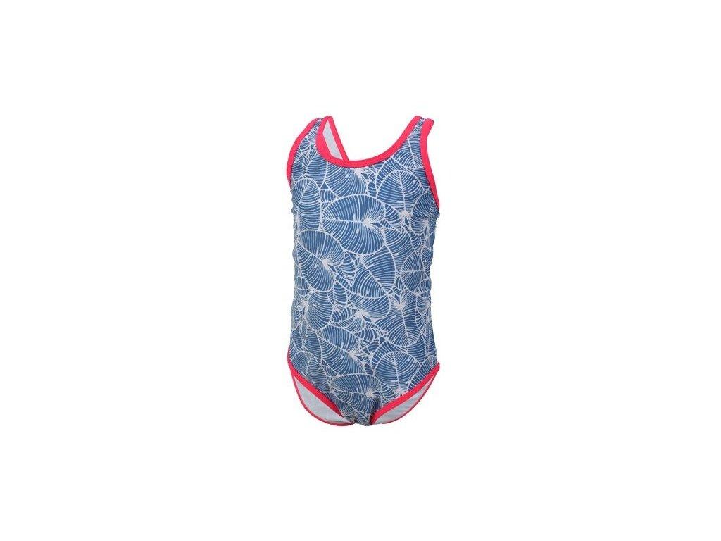 Kvalitní dívčí rychleschnoucí jednodílné plavky s UV ochranou Color Kids Tulla - Jeans blue