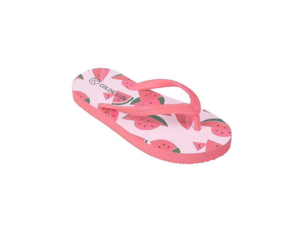 Kvalitní dětské plážové žabky Color Kids Nemo - Diva pink v růžové barvě