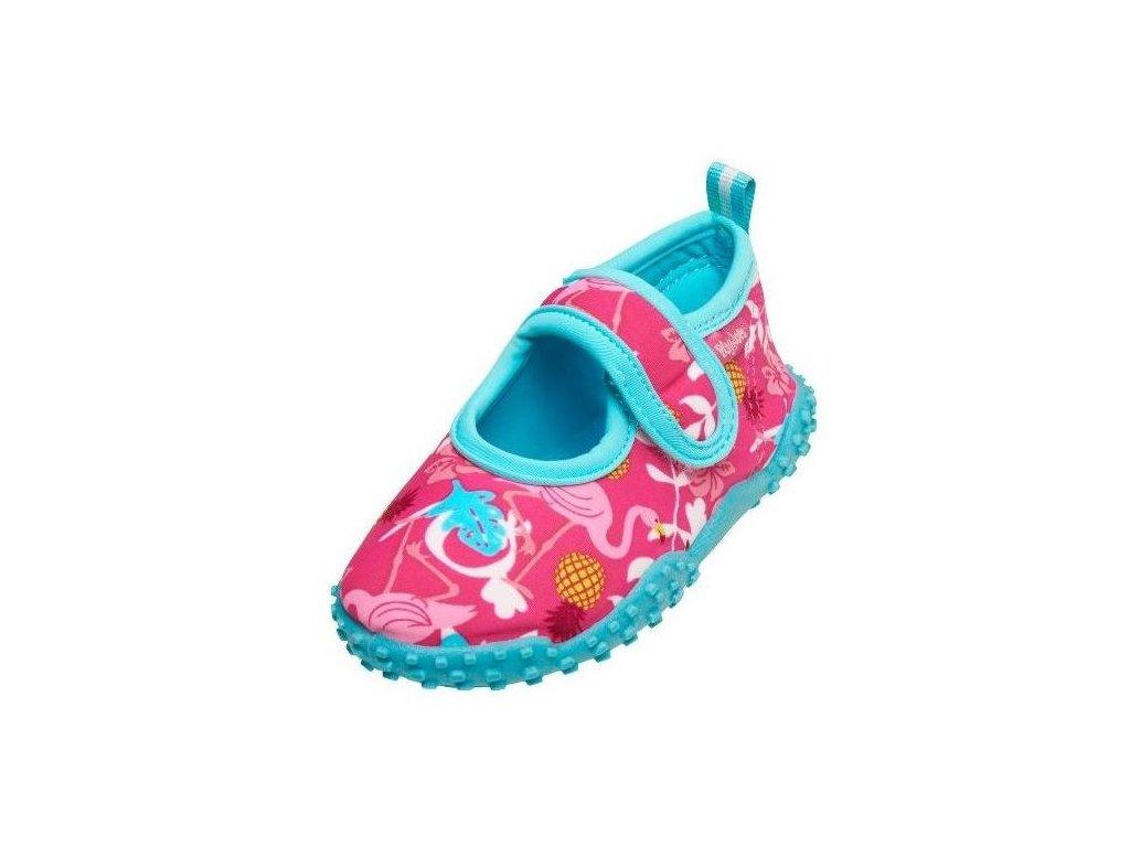 Kvalitní dětské lehké a prodyšné boty do vody Playshoes plameňák