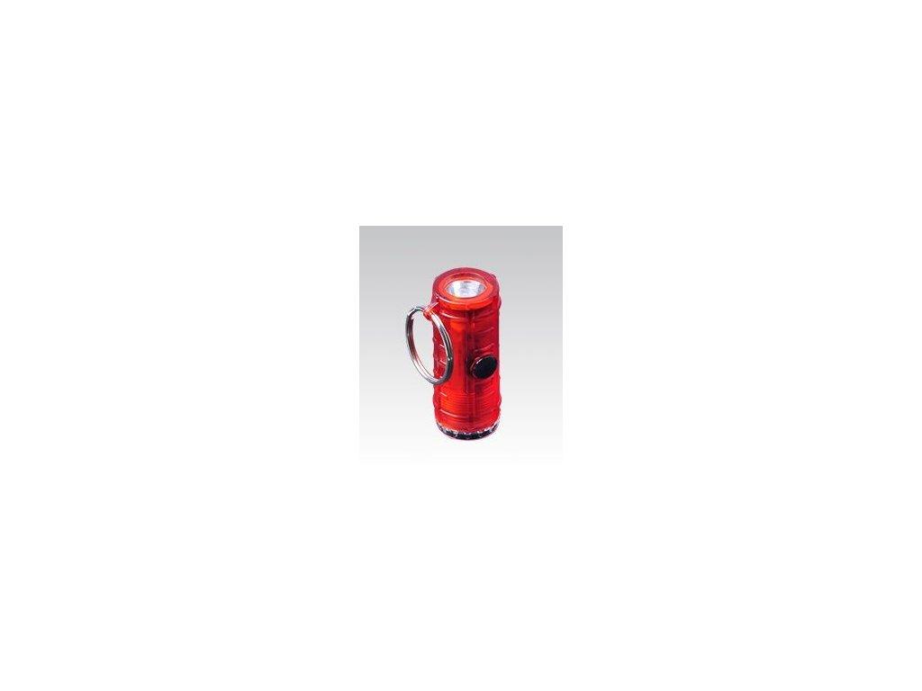 Přívěsek Munkees Mini svítilna se 4 světelnými režimy červená