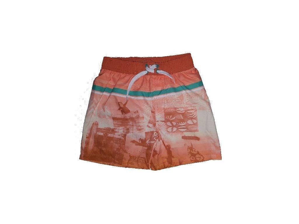 Kvalitní chlapecké rychleschnoucí šortkové plavky s UV ochranou Losan Beach oranžové