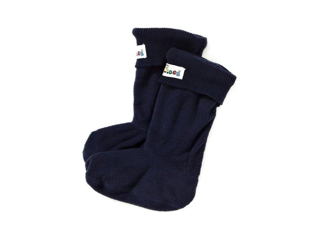 Kvalitní praktické flleecové vložky pro zateplení gumáků Playshoes v černé barvě