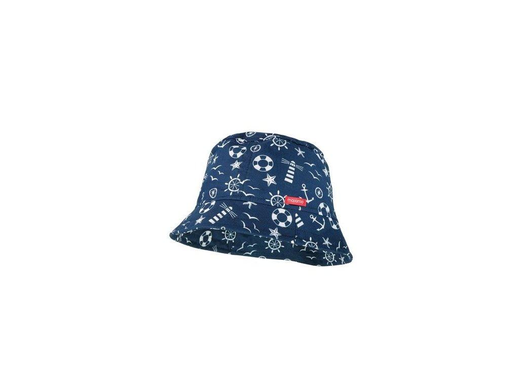 Kvalitní dětský bavlněný klobouček Maximo námořnický v tmavě modré barvě