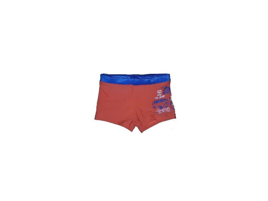 Kvalitní chlapecké rychleschnoucí šortkové plavky s UV ochranou Losan Surf oranžové