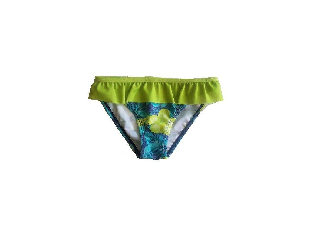 Kvalitní dívčí rychleschnoucí plavkové kalhotky Losan limetkové