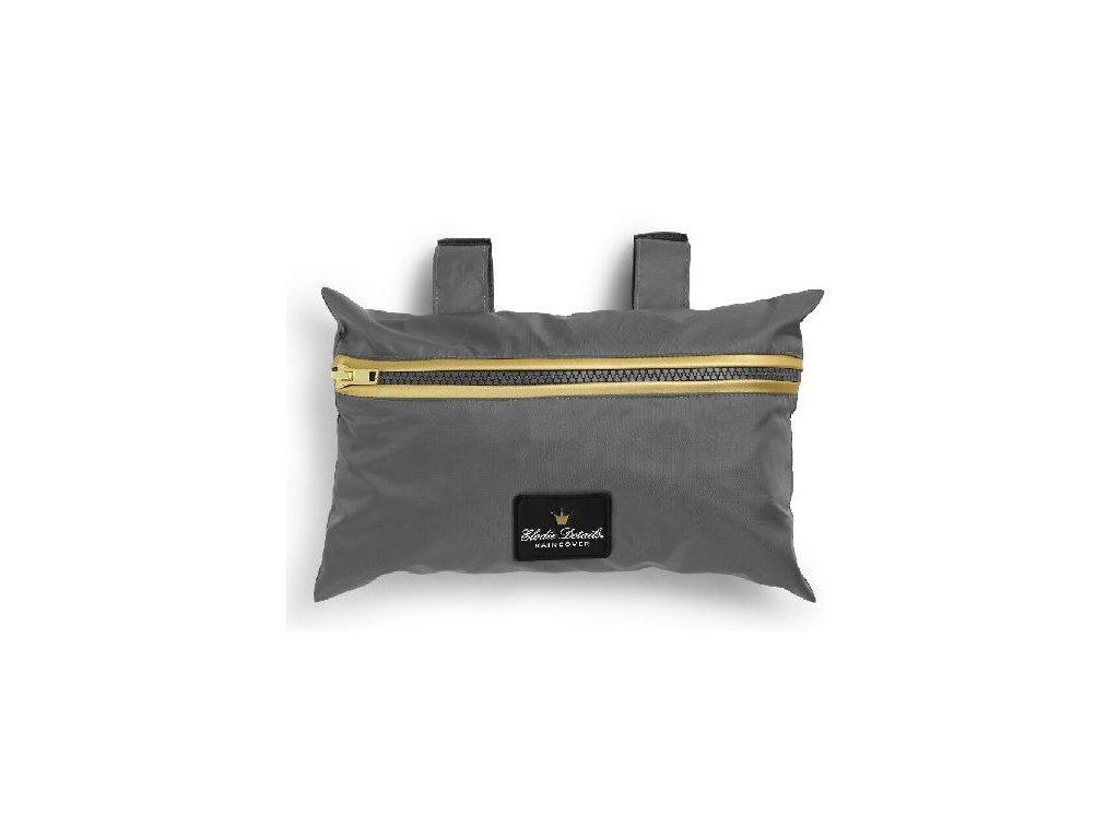 Kvalitní univerzální a praktická pláštěnka pro kočárek Elodie Details - Golden Grey v šedé barvě