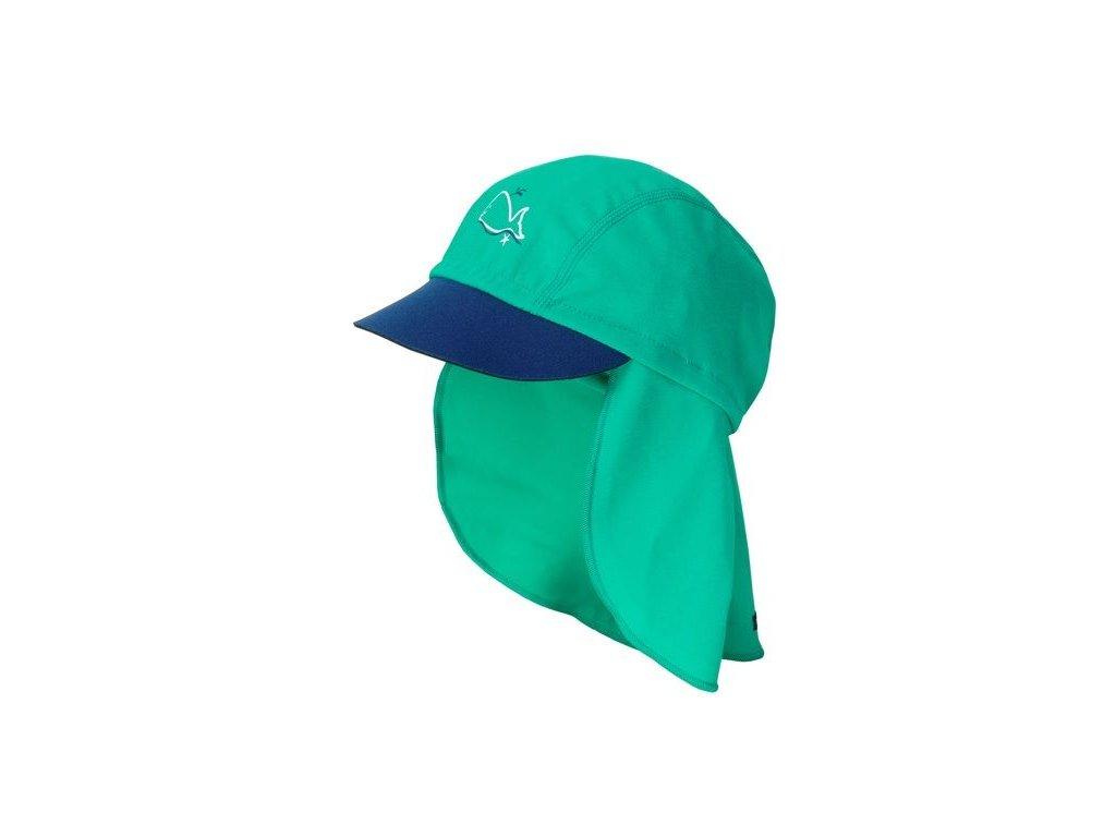 Kvalitní dětská letní čepice s kšiltem a UV filtrem 50+ Maximo UPF 50+ zelená