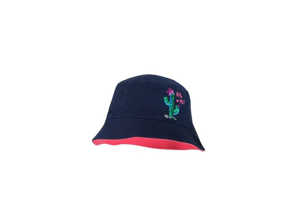 Kvalitní dětský dívčí klobouček Maximo kaktus v černé barvě