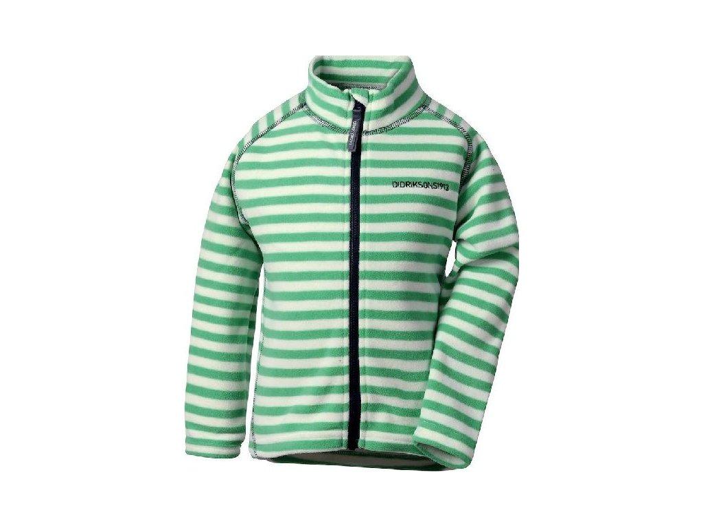 Dětská fleecová mikina Didriksons Monte print zelená