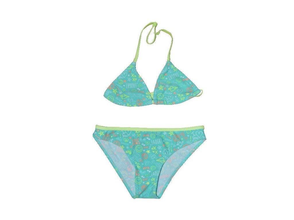 Kvalitní dívčí rychleschnoucí 2-dílné plavky s UV ochranou Losan aqua