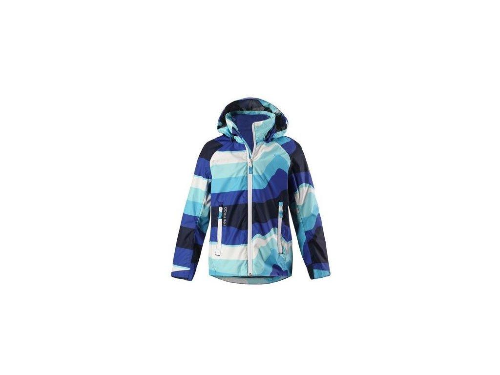 Kvalitní dětská jarní nepromokavá bunda s membránou, kapucí a reflexními prvky Reima Travel - Navy v tmavě modré barvě