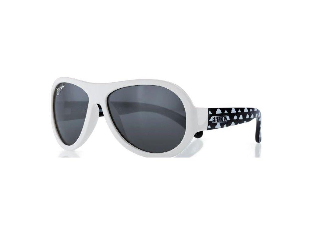 Kvalitní dětské sluneční brýle s ochranou před UVA i UVB zářením a bez BPA Shadez Designers Teeny - Cloud Print White v bílé barvě