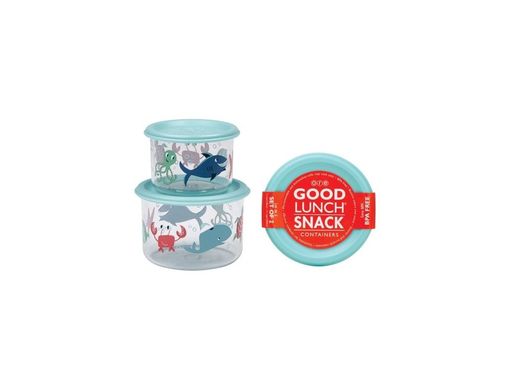 Sugarbooger Good Lunch snack containers  - Ocean