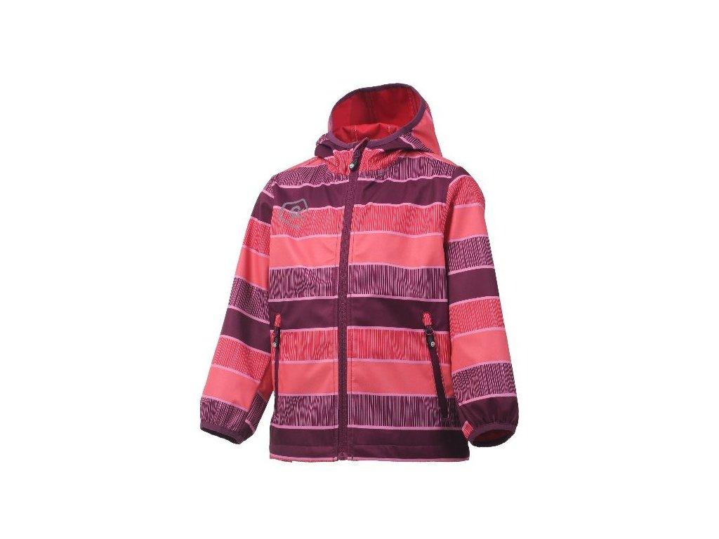Kvalitní dětská prodyšná jarní softshellová bunda s kapucí a reflexními prvky Color Kids Tadimir - Magenta purple ve vínové barvě