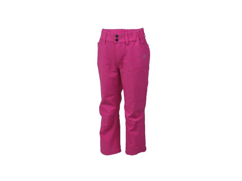 Kvalitní dětské lehké softshellové kalhoty s reflexními prvky Color Kids Tindall - Fuchsia red v červené barvě