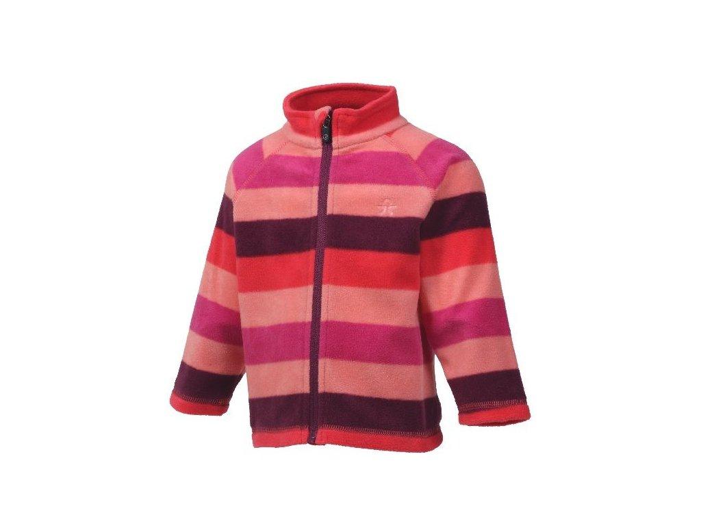 Dětská fleecová mikina Color Kids Nelido - Sugar coral
