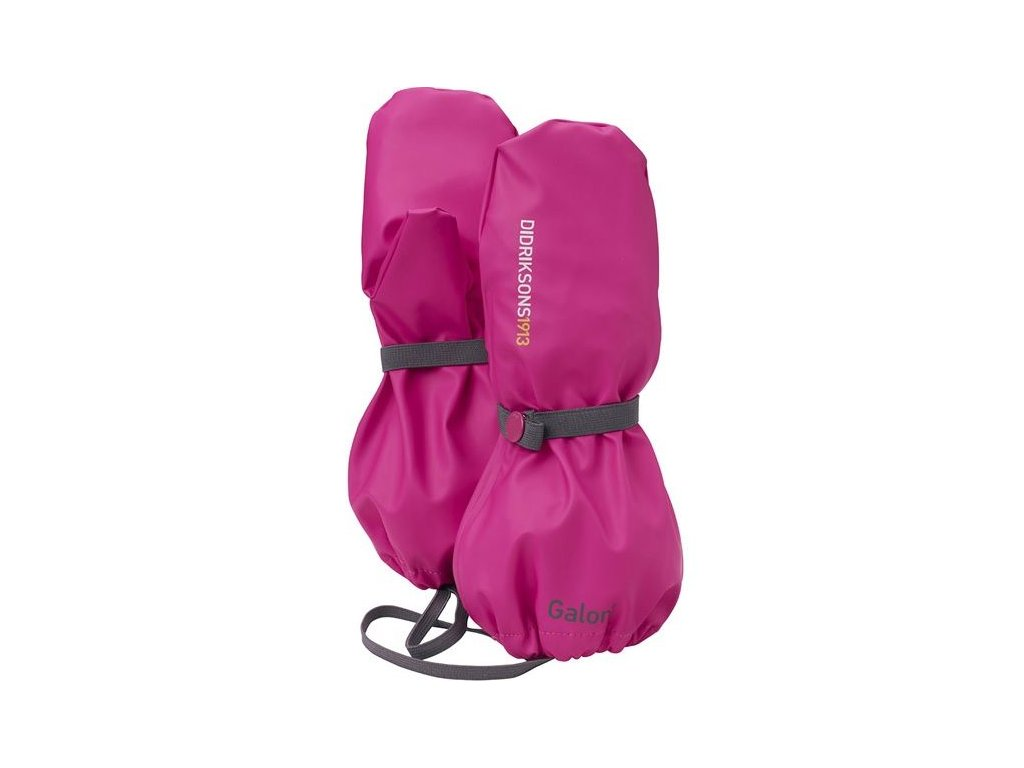 Kvalitní dětské zimní nepromokavé rukavice palčáky Didriksons Glove v růžové barvě