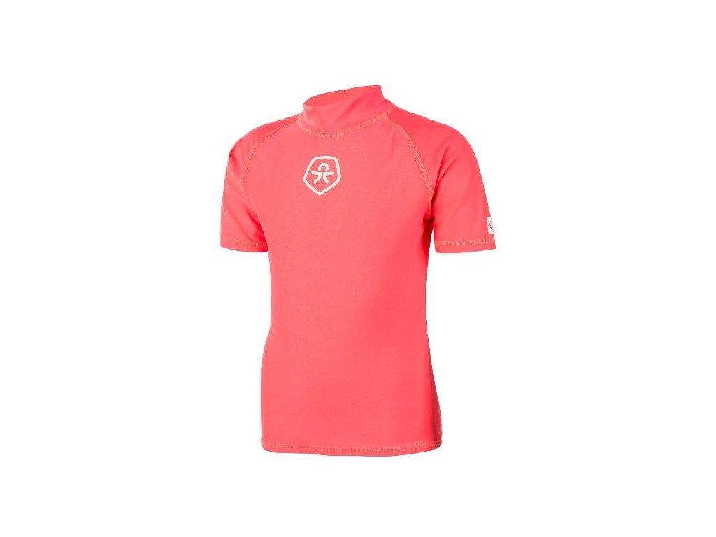 Dětské UV tričko Color Kids Timon - Fiery coral