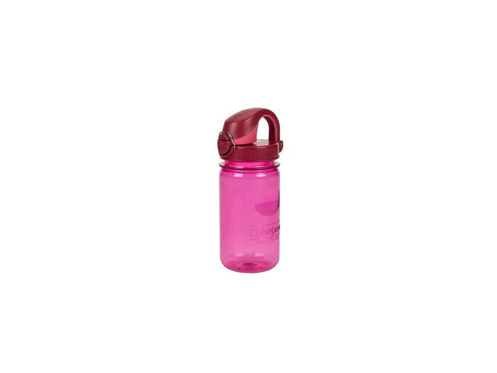 Kvalitní dětská plastová láhev bez BPA Nalgene OTF - červená 350 ml v červené barvě