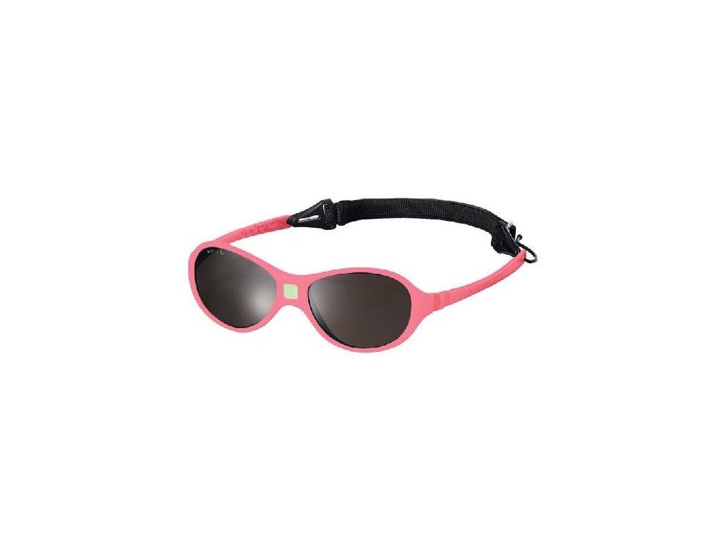 Kvalitní dětské sluneční brýle pro batolata s ochranou před UVA i UVB zářením KiETLA Jokaki 12-30 m v růžové barvě