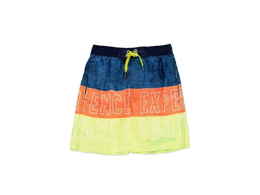 Kvalitní chlapecké rychleschnoucí šortkové plavky s UV ochranou Losan limetkovo-oranžové