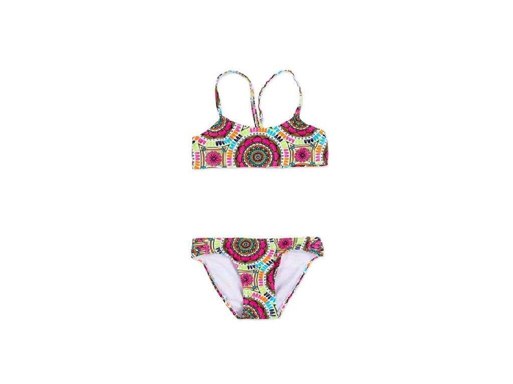 Kvalitní dívčí 2-dílné rychleschnoucí plavky Losan barevné