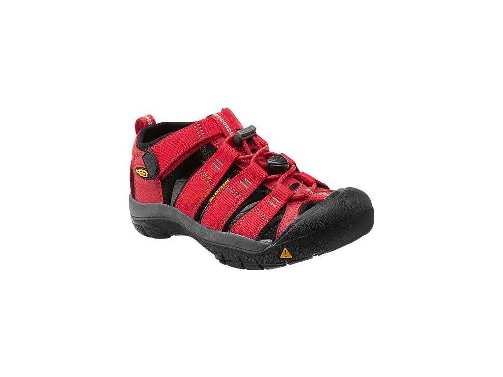Kvalitní dětské odolné sandály pro sport a výlety Keen Newport H2 ribbon red/gargoyle v červené barvě
