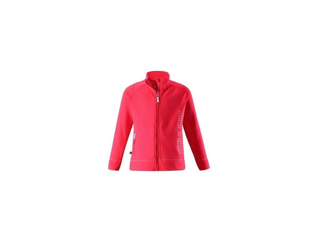 Kvalitní dětská hřejivá jarní fleecová mikina Reima Lily - Bright red v červené barvě