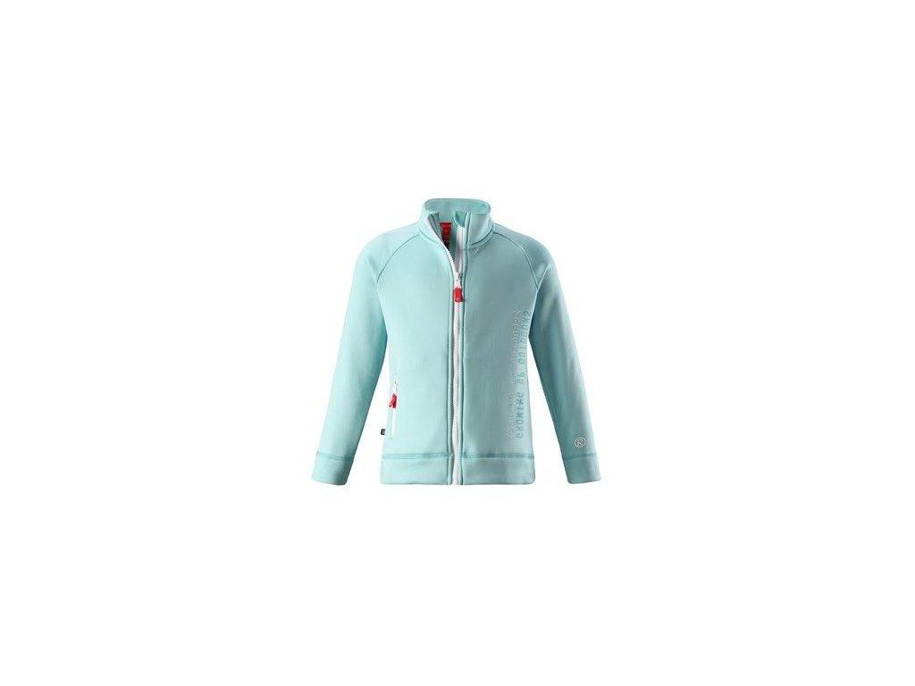 Kvalitní dětská hřejivá jarní fleecová mikina Reima Lily - Mint ve světle tyrkysové barvě