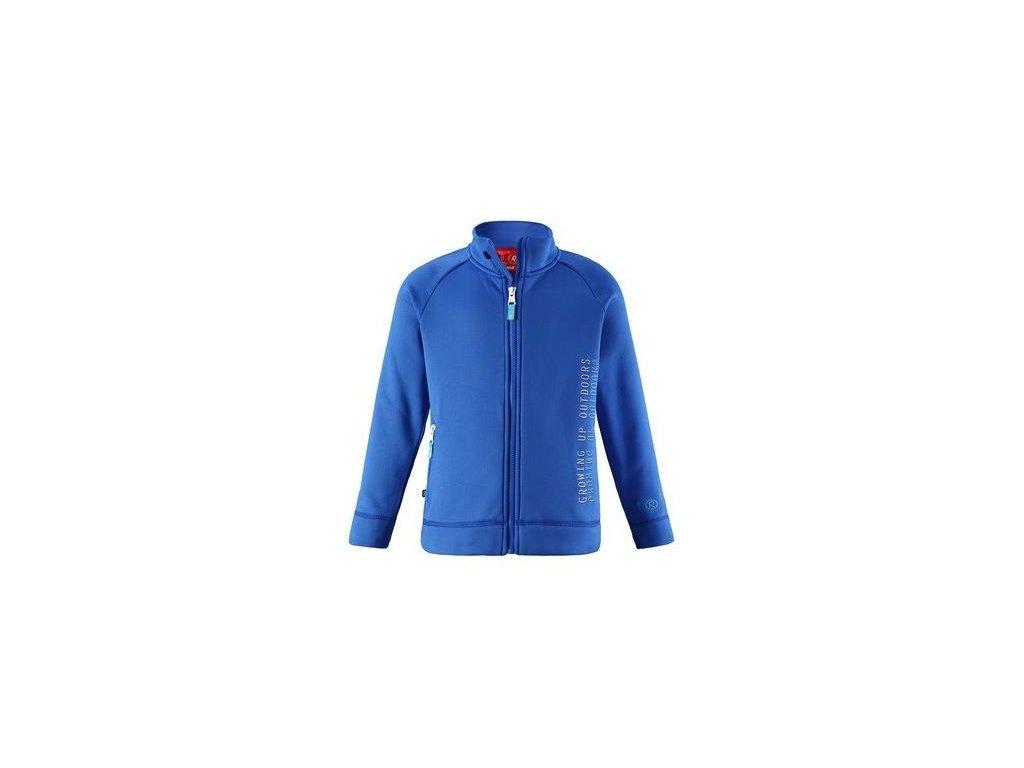 Kvalitní dětská hřejivá jarní fleecová mikina Reima Bro - Blue v modré barvě