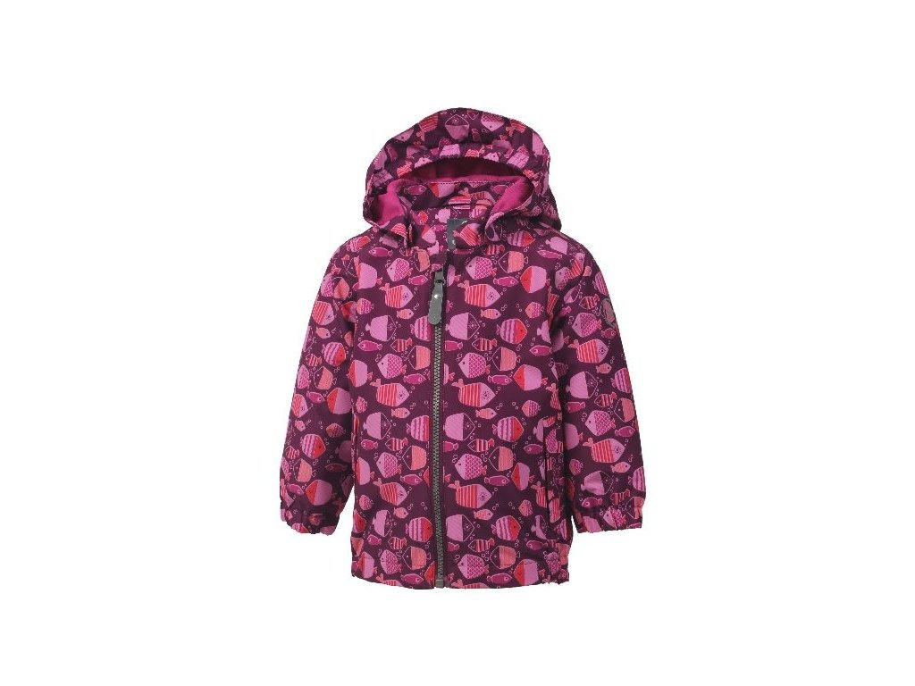 Outdoorová bunda Color Kids Torke - Magenta purple