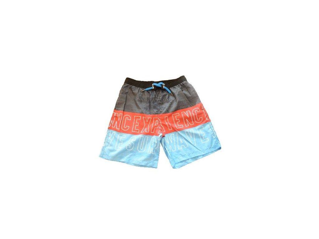 Kvalitní chlapecké rychleschnoucí šortkové plavky s UV ochranou Losan červeno-modré