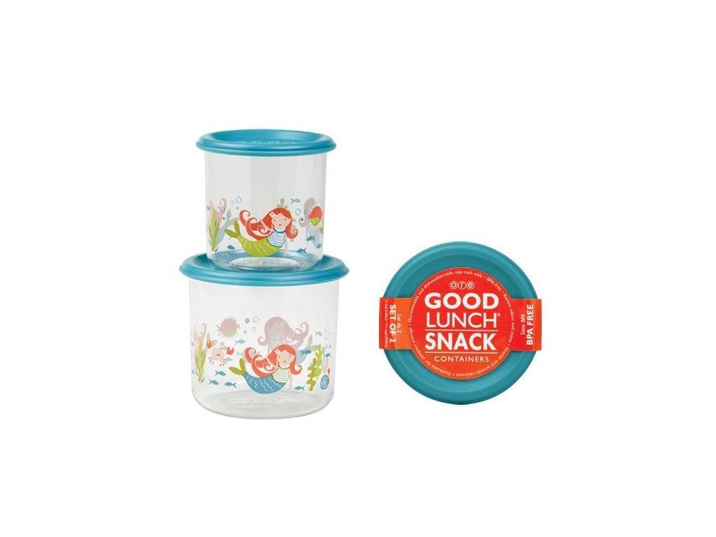 Kvalitní dětský set dvou svačinových krabiček bez BPA Sugarbooger Good Lunch snack containers - Isla the Mermaid