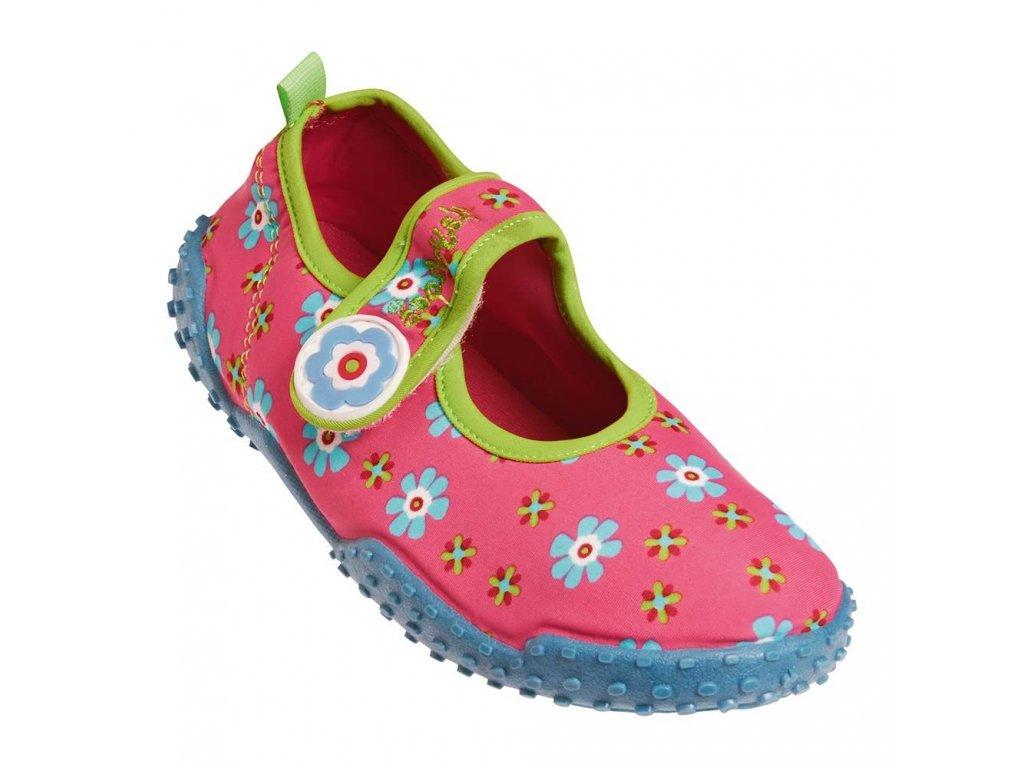 Kvalitní dětské lehké a prodyšné boty do vody Playshoes Flower