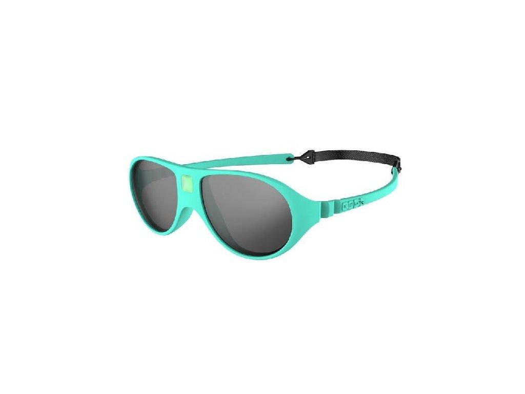 Kvalitní dětské sluneční brýle s ochranou před UVA i UVB zářením KiETLA Jokala 2-4 roky v mentolové barvě