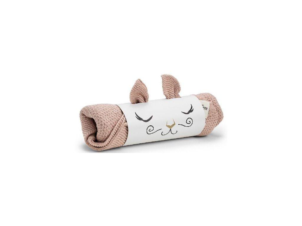 Kvalitní dětská pletená deka Elodie Details - Powder Pink ve světle růžové barvě
