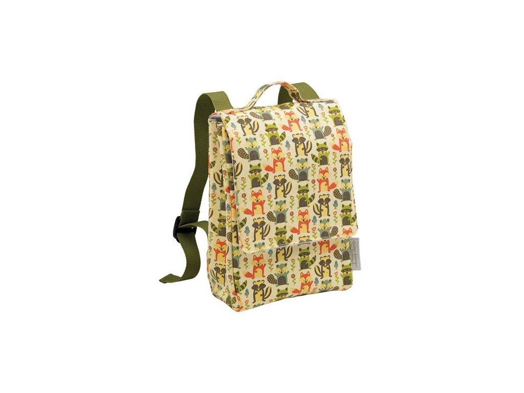 Kvalitní nylonový, komfortní a propracovaný dětský batoh pro předškoláky Sugarbooger backpack - What did the Fox Eat v zelené barvě