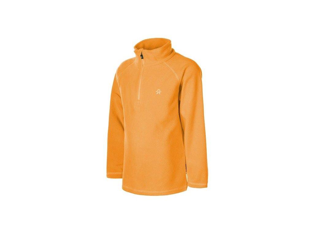 Kvalitní dětská hřejivá jarní fleecová mikina Color Kids Microfleece Sandberg ski v oranžové barvě