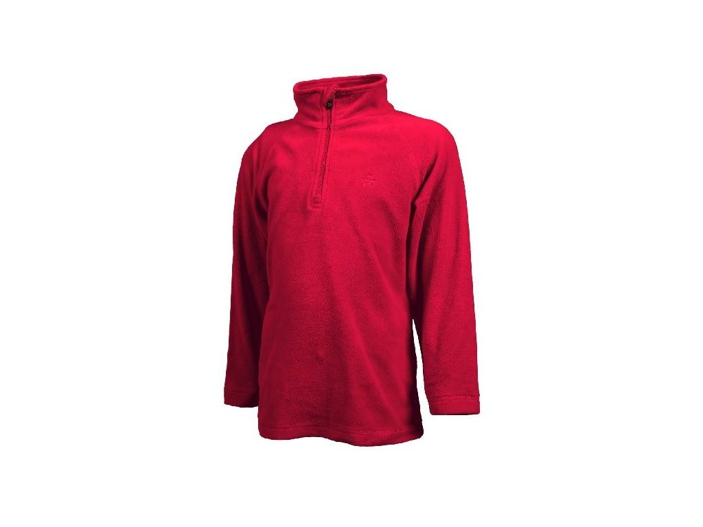 Color Kids Sandberg fleece pulli Racing red