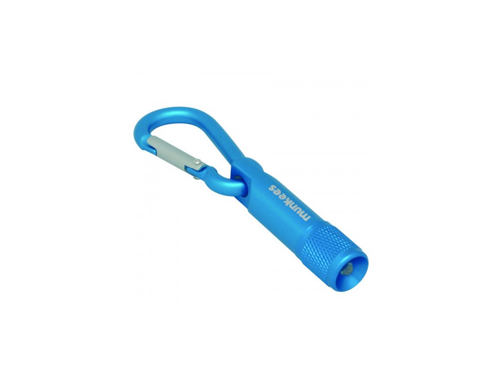 1b19c41b munkees led svetlo s karabinou mix barev blue