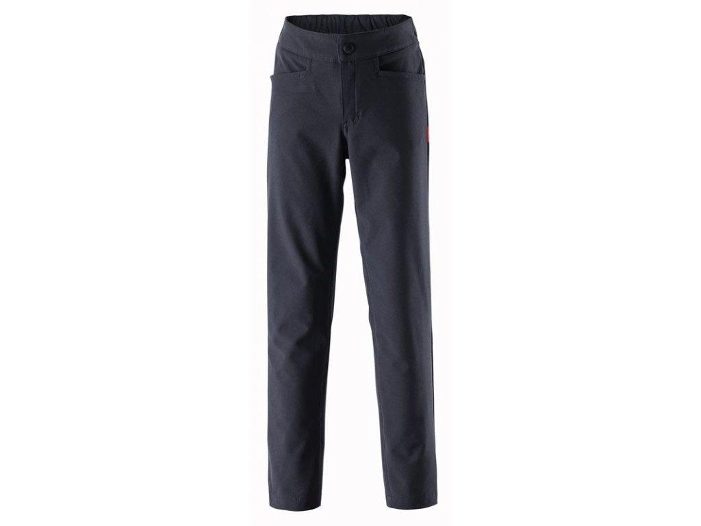Kvalitní dětské lehké softshellové kalhoty Reima Idole v černé barvě