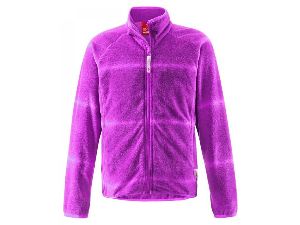 Kvalitní dětská hřejivá jarní fleecová bunda Reima Julienne ve fialové barvě