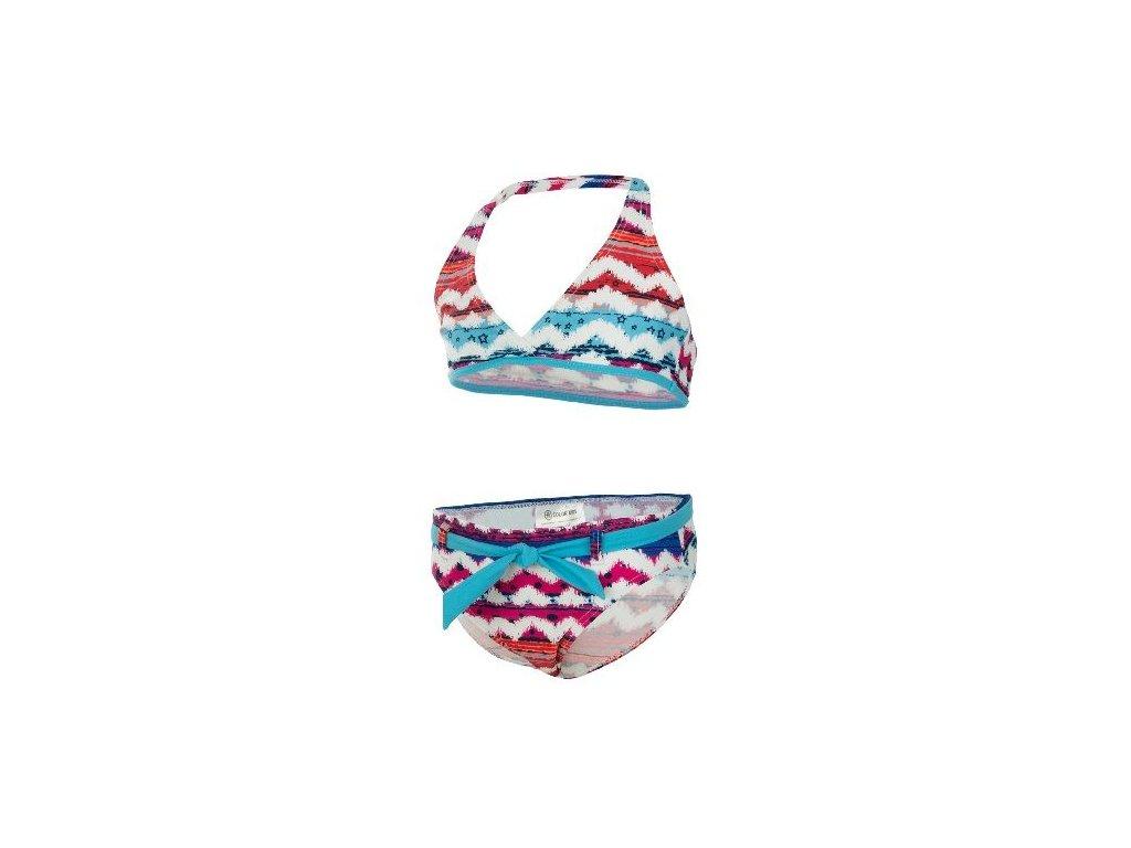 Kvalitní dětské dívčí dvoudílné rychleschnoucí plavky s UV ochranou Bikini Vanse Color Kids UPF 40+