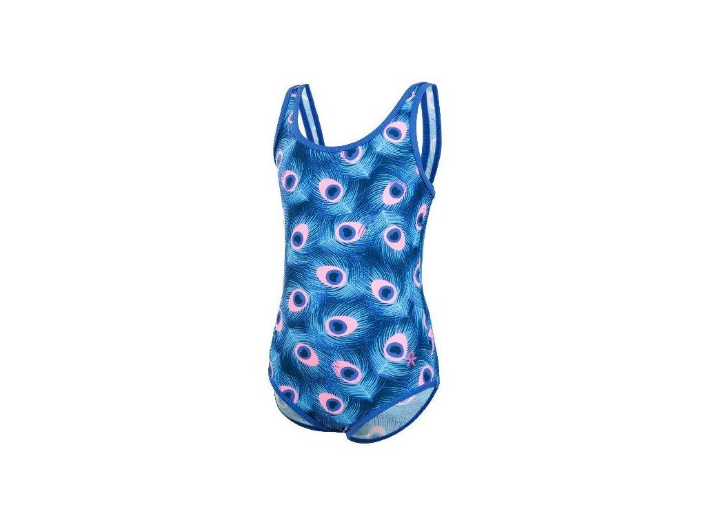Kvalitní dětské rychleschnoucí jednodílné plavky s UV ochranou Vulla Color Kids UPF 40+ v modré barvě